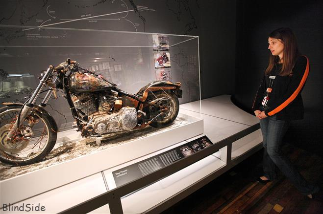A harley davidson as Strangest Things after tsunamis